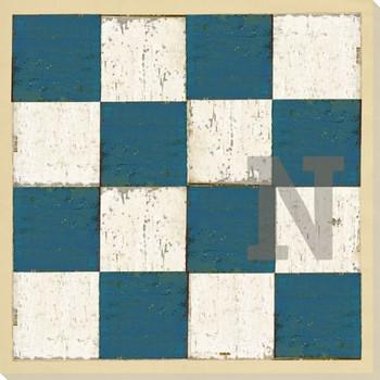 Intl. Maritime Signal Flag N Wrapped Canvas Giclee Print Wall Art