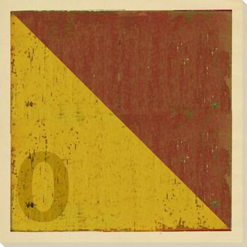 Intl. Maritime Signal Flag O Wrapped Canvas Giclee Print Wall Art