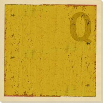 Intl. Maritime Signal Flag Q Wrapped Canvas Giclee Print Wall Art