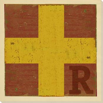 Intl. Maritime Signal Flag R Wrapped Canvas Giclee Print Wall Art