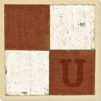 Intl. Maritime Signal Flag U Wrapped Canvas Giclee Print Wall Art