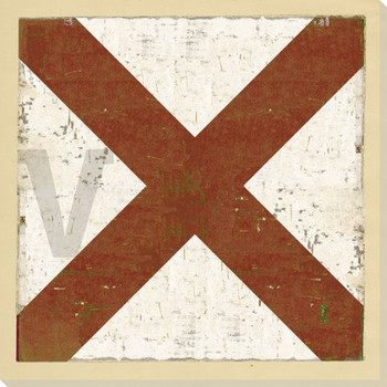 Intl. Maritime Signal Flag V Wrapped Canvas Giclee Print Wall Art