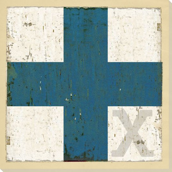 Intl. Maritime Signal Flag X Wrapped Canvas Giclee Print Wall Art