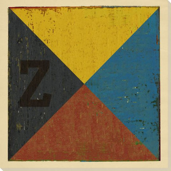 Intl. Maritime Signal Flag Z Wrapped Canvas Giclee Print Wall Art