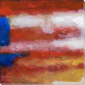 O 'Beautiful I American Flag Wrapped Canvas Giclee Print Wall Art