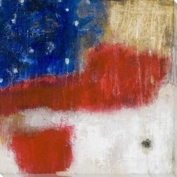 O 'Beautiful II American Flag Wrapped Canvas Giclee Print Wall Art