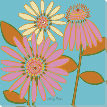 Flower Cone Wrapped Canvas Giclee Print Wall Art