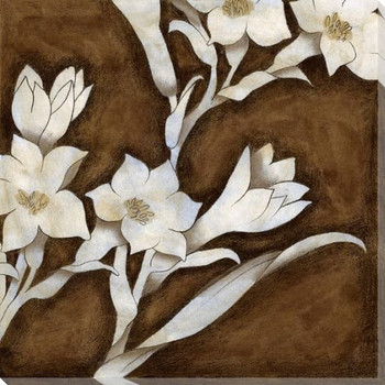 Floral Quartet IV Wrapped Canvas Giclee Print Wall Art