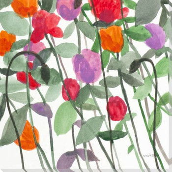 Sundance Flowers II Wrapped Canvas Giclee Print Wall Art