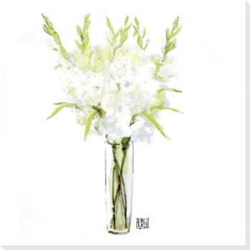 Gladiola Flower Bouquet Wrapped Canvas Giclee Print Wall Art