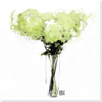 Hydrangea Flower Bouquet Wrapped Canvas Giclee Print Wall Art