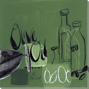 Olive Oil Wrapped Canvas Giclee Print Wall Art