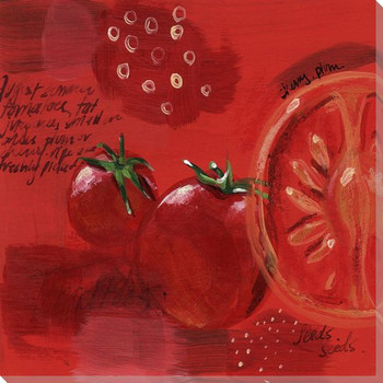 Tomatoes Wrapped Canvas Giclee Print Wall Art