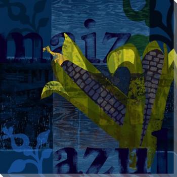 Garden Maiz Wrapped Canvas Giclee Print Wall Art