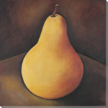 Solitude Pear Wrapped Canvas Giclee Print Wall Art