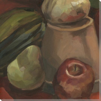 Studio Still Life Apple and Pear Wrapped Canvas Giclee Print