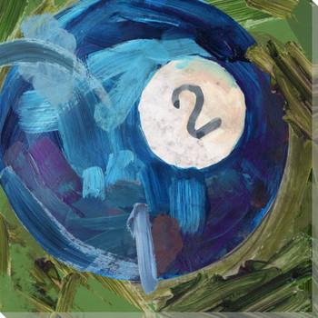 Billiard 2 Ball Wrapped Canvas Giclee Print Wall Art