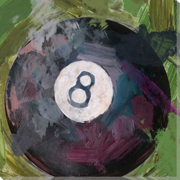 Billiard 8 Ball Wrapped Canvas Giclee Print Wall Art