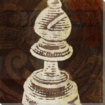 Bishop Chess Piece Wrapped Canvas Giclee Print Wall Art