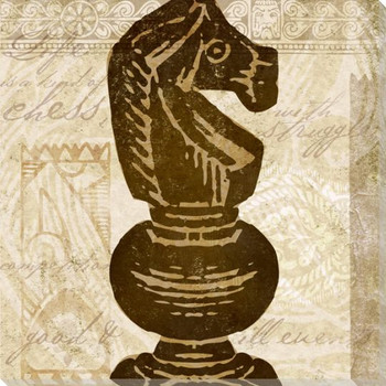 Knight Chess Piece Wrapped Canvas Giclee Print Wall Art