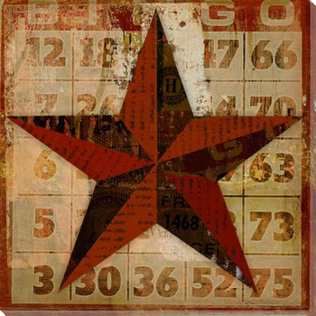 Bingo Card Game Star Wrapped Canvas Giclee Print Wall Art