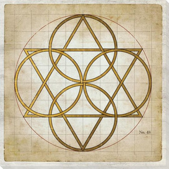 Geometrics 1 Wrapped Canvas Giclee Art Print Wall Art