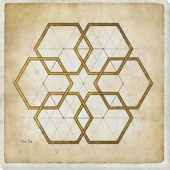 Geometrics 2 Wrapped Canvas Giclee Art Print Wall Art