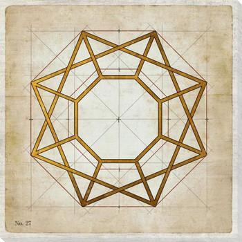 Geometrics 3 Wrapped Canvas Giclee Art Print Wall Art