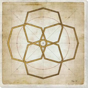 Geometrics 4 Wrapped Canvas Giclee Art Print Wall Art
