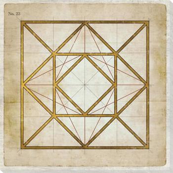 Geometrics 5 Wrapped Canvas Giclee Art Print Wall Art