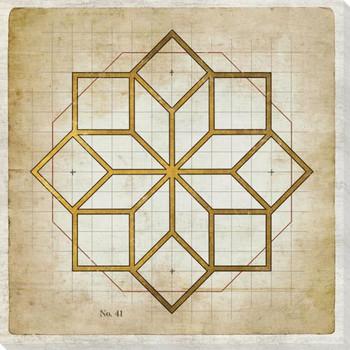 Geometrics 6 Wrapped Canvas Giclee Art Print Wall Art
