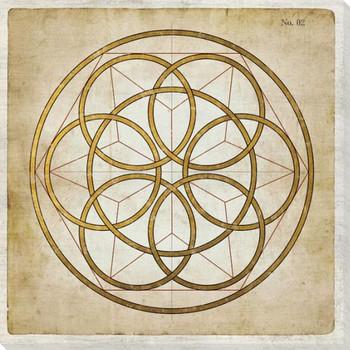 Geometrics 7 Wrapped Canvas Giclee Art Print Wall Art