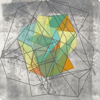 Geomolecule II Wrapped Canvas Giclee Art Print Wall Art