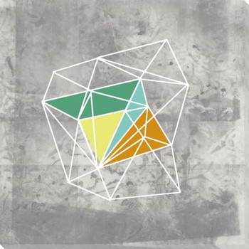 Geomolecule III Wrapped Canvas Giclee Art Print Wall Art