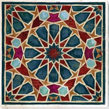 Geometric Tile 1 Wrapped Canvas Giclee Art Print Wall Art
