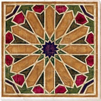 Geometric Tile 2 Wrapped Canvas Giclee Art Print Wall Art