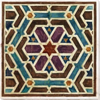 Geometric Tile 4 Wrapped Canvas Giclee Art Print Wall Art