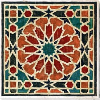 Geometric Tile 5 Wrapped Canvas Giclee Art Print Wall Art