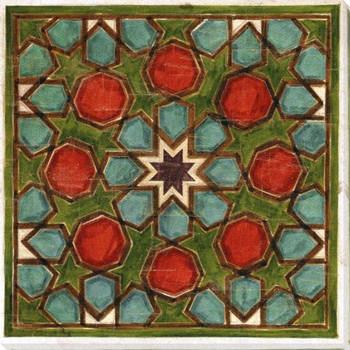 Geometric Tile 6 Wrapped Canvas Giclee Art Print Wall Art