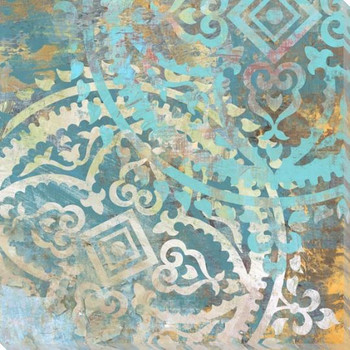 Patterned Tiles 2 Wrapped Canvas Giclee Art Print Wall Art