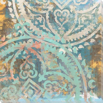 Patterned Tiles 3 Wrapped Canvas Giclee Art Print Wall Art