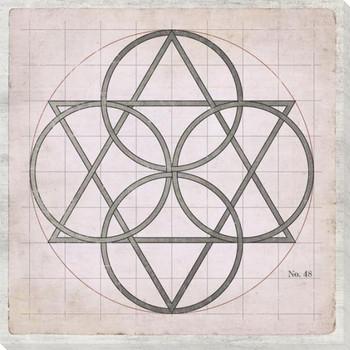 Geometric Pink No 48 Wrapped Canvas Giclee Art Print Wall Art