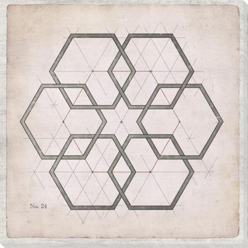Geometric Pink No 24 Wrapped Canvas Giclee Art Print Wall Art