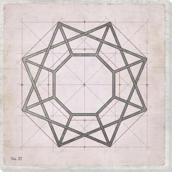 Geometric Pink No 27 Wrapped Canvas Giclee Art Print Wall Art