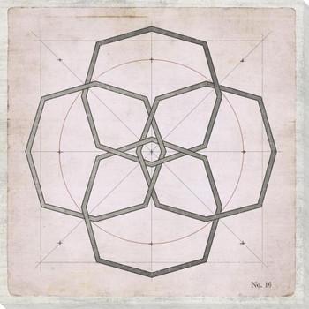 Geometric Pink No 17 Wrapped Canvas Giclee Art Print Wall Art