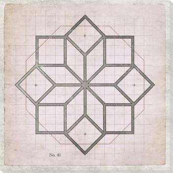 Geometric Pink No 41 Wrapped Canvas Giclee Art Print Wall Art
