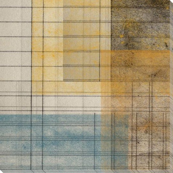 Grid Abstract Geometric 3 Wrapped Canvas Giclee Art Print Wall Art
