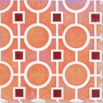 Vibrant Tiles V Wrapped Canvas Giclee Print Wall Art