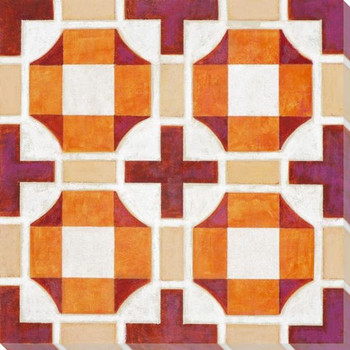Vibrant Tiles VII Wrapped Canvas Giclee Print Wall Art