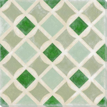Vibrant Tiles I Wrapped Canvas Giclee Print Wall Art
